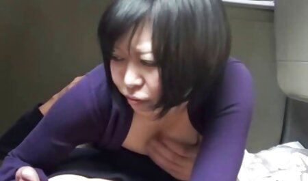 A young waiter in black stockings sucks and gives asian facesitting anal on the sofa