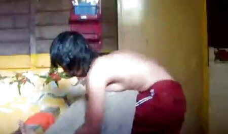 Young girl sitting on the face of mature asian porn movies couples wearing red panties