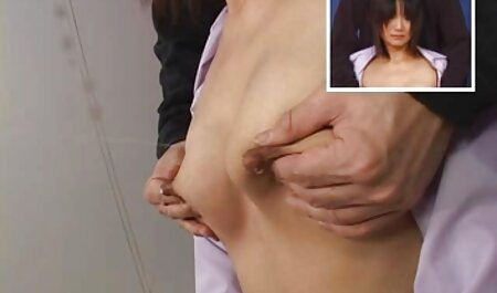 Cum along the asian sex cheek of a girl after the intercourse in an apartment